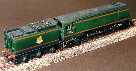 West Country 4-6-2 number 34102 as built by David Armitage