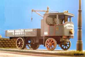 Hauler Super Sentinel steam wagon, short wheelbase with crane
