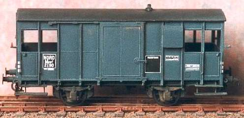 Huet - British War Department brake van